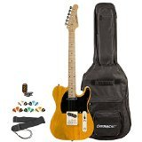 Sawtooth ST-ET-BSB-KIT-2 Electric Guitar, Butterscotch with Black Pickguard