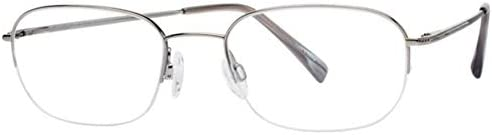 Charmant Eyeglasses TI8176 TI 8176 GR Gray Half Rim Optical Frame 53mm