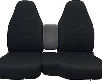 Durafit Seat Covers Made to fit 2004-2005 Ford Ranger Front 60/40 Split Seat with Molded Headrests and Opening Console. Made in Black Auto Twill Complete Protection, fits Like a Glove. Save Now