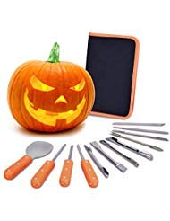 VIVREAL Halloween Pumpkin Carving Kit, 12 Pieces Heavy Duty Stainless Steel Carving Tools Set for Halloween Decoration, Easily Sculpting Jack-O-Lanter ()