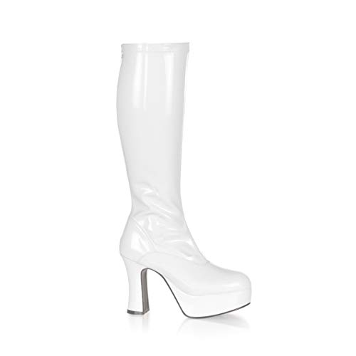 Funtasma by Pleaser Women's Exotica-2000 Boot,White Stretch Patent,9 M]()