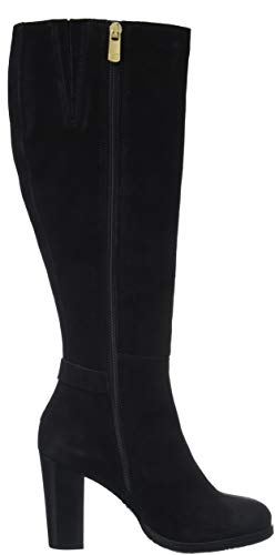 Tommy Long Boot Heeled Hilfiger Noir 990 Buckle Femme Suede Th black Hautes Bottes xIXrUgwx
