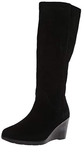 Blondo Women's Larissa Knee High Boot, Black Suede, 8.5 M US
