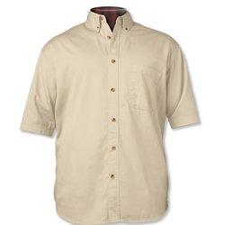 Sierra Pacific 0201 Short Sleeve Cotton Twill Shirt Natural Chino 5XL - Natural Twill Shirt