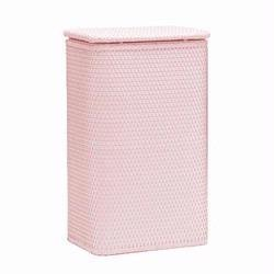 Chelsea Collection Wicker Apartment Hamper - Crystal Pink