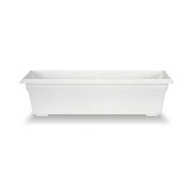 Countryside Rectangular Window Box Color: White, Size: 6.56