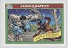1990 Impel Marvel Universe Series I (Trading Card) #113 - The Hulk vs. Wolverine