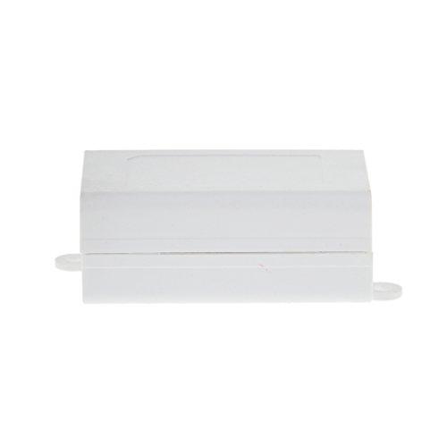 MagiDeal Agujeros de Fijación PVC Tipo Clip Conexión Eléctrica Caja de Conexiones Plástico Blanca