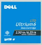 Dell LTO-6 Tape 2.5tb/6.25tb, Dell Lto-6 Ultrium, Part # 342-5450/ 3w22t