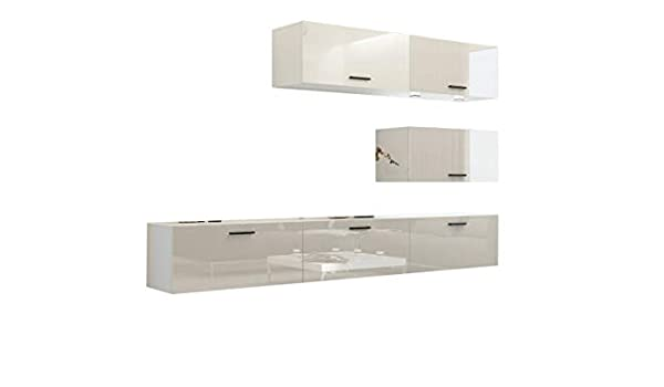 Home Direct Future 25 - Mueble de Pared para salón, salón, salón, Armario, Muebles, Medios, C25/HG/W8 1B, Color Blanco: Amazon.es: Hogar