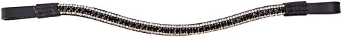 Cwell Equine Bling!Leather Mega-Sparkly Browband3-Row CrystalsDressageBLACK/Clear F/C/P Black (Full 16'') by Cwell Equine (Image #1)
