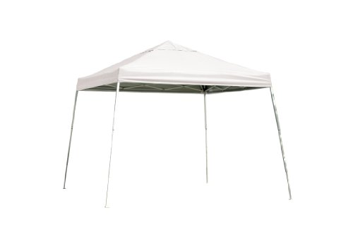 12x12 Slant Leg Pop-up Canopy, White Cover, Black Roller Bag by ShelterLogic