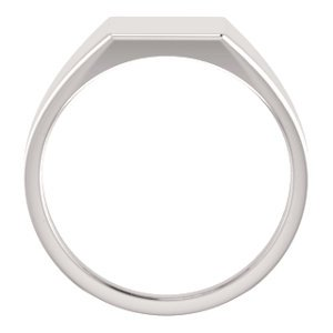 Men's Hollow Rectangle Signet Ring, 18k White Gold (11X10MM), Size 12 by The Men's Jewelry Store (Image #2)