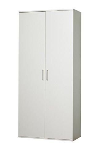 WILMES 40101-75 0 75 Schuhschrank Holzwerkstoff, 39 x 80 x 178 cm, weiß