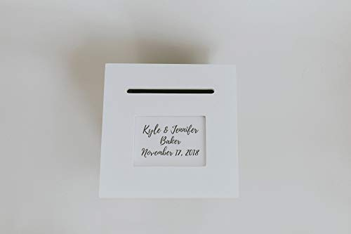 - The Perfect Card Box Personalized Wedding Card Box - Rotating in White