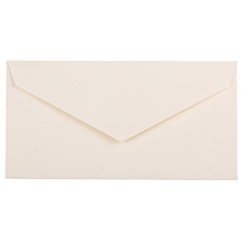JAM PAPER Monarch Strathmore Invitation Envelopes - 3 7/8 x 7 1/2 - Natural White Wove - 50/Pack