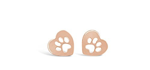 Rosa Vila Heart Dog Paw Print Earrings, Puppy Earrings for sale  Delivered anywhere in Canada