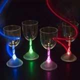 Flashing Panda LED Light Up Flashing 9 oz Wine Goblet - One Cup