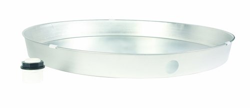 Camco 20850 28'' ID x 2'' Aluminum Water Heater Drain Pan with PVC Fitting by Camco