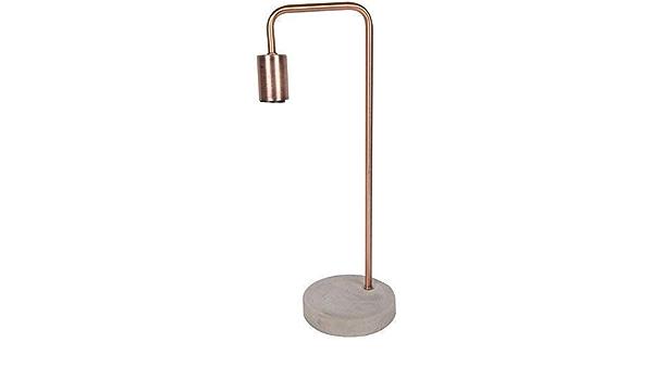 Itp Unique Brushed Copper Table Lamp 48cm Tall Desk Lamp Desk Lamps Amazon Com Au