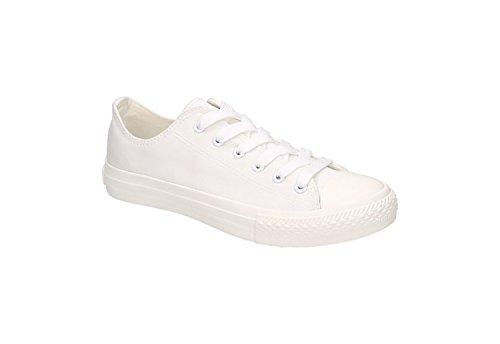 Jumex Uni Sneaker Turnschuhe Schnürschuhe Worker Chunk 36-41 Weiß Rosa Blau Weiß