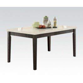 Acme Furniture 72850 Nolan Dining Table, White Marble/Salvage Dark Oak by Acme Furniture
