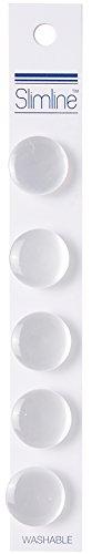 Slimline Buttons Series 1-White Shank 5/8