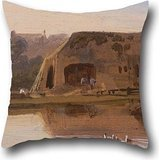 16 X 16 Inches / 40 By 40 Cm Oil Painting William Havell - On The Kennet, Reading Throw Cushion Covers,double Sides Is Fit For Divan,study Room,girls,coffee House,sofa,divan (150 000+ Embroidery Designs compare prices)