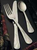 Bon Chef S2206 Stainless Steel 18/8 Wave European Dinner Fork, 8-17/32
