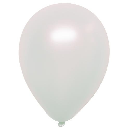 Unique 12  Latex Balloons Pearlized (Pearl White), 10 Ct
