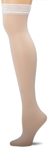 Silk Reflections Silky Sheer Thigh High-SF - White, Size AB -