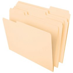 Office Depot File Folders, 1/3 Tab Cut, Letter Size, Manila, Pack Of 100, OD752 1/3 -