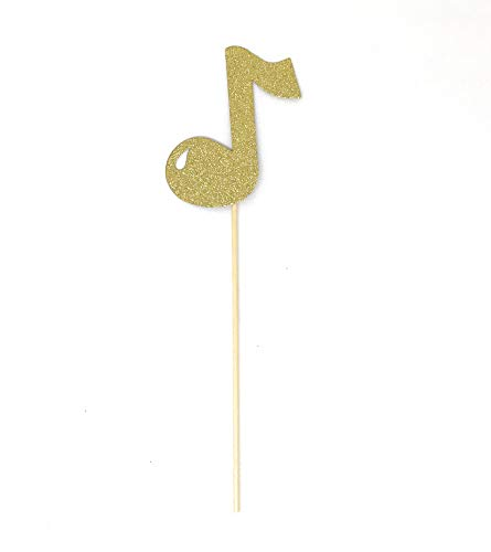 PaperGala Band Music Note Double Sided Centerpiece Sticks Set of 8 Real -