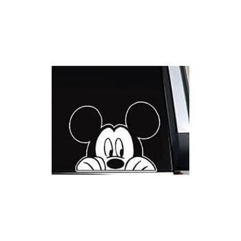 "Mickey Mouse Peeking Vinyl Decal Sticker -SM0002 - 5.5""W"