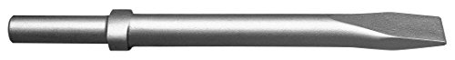 Champion Chisel, 18-Inch Long .680 Round Shank Oval Collar Chipping Hammer Narrow, Flat Chisel