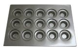 Focus Foodservice Commercial Bakeware 15 Count 4-Inch Large Crown Muffin Pan