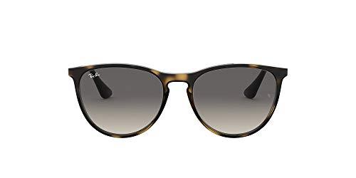 Ray-Ban Junior Kid's RJ9060S Erika Kids Round Sunglasses, Havana/Grey Gradient, 50 mm (Ray-ban Erika Braun)