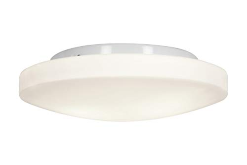 Access Lighting 50161LED-WH/OPL Orion LED Light 13-Inch Diameter Flush Mount with Opal Glass Shade, White Finish - Light Collection 1 Orion