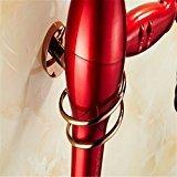 elegantstunning Stainless Steel Hair Dryer Holder Shelf Rose Gold