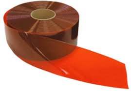 PVC Bulk Roll Vinyl - 12'' Wide x 200', Aztec Orange / Red Tint for Welding by Steel Guard Safety