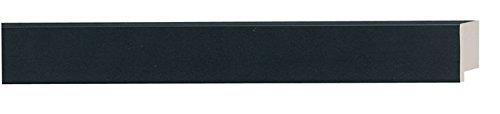 Frame Bundle - Picture Frame Moulding (Wood) 18ft Bundle - Contemporary Black Finish - 1.125