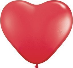 Mayflower Balloons 6552 6 Inch Red Heart Shape Latex Pack Of -