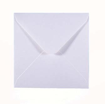 6 x 6 inch Ice Silver Pearlescent Envelopes 155 x 155mm Pack of 50