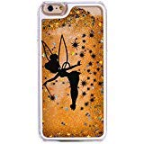 iPhone 7 / 8 , Bling Glitter Hard Case Bumper Clear Cover - Black Fairy Angel  in Gold