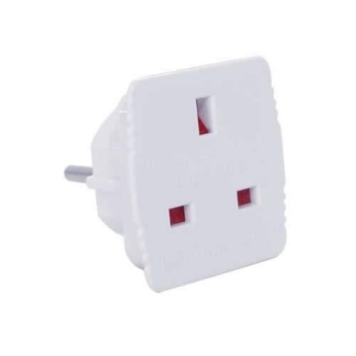 GSC Garsaco GSC 0200598 European to English Plug Adapter, White