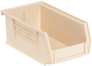 Quantum QUS220IV Ivory Ultra Stack and Hang Bin, 7-3/8