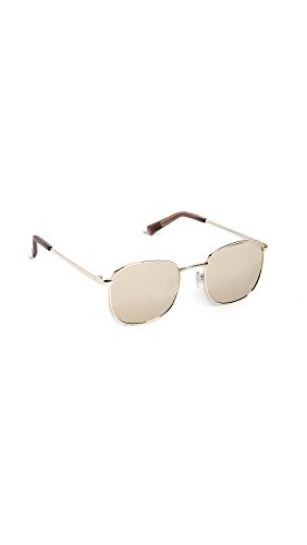 Le Specs Women's Neptune Sunglasses, Gold/Gold Revo, One - Sunglasses Specs Mirrored Le
