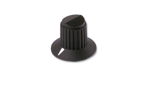 1 piece ELECTRONIC HARDWARE 6.35MM MS91528-1F2B ROUND SKIRTED KNOB W// ARROW IND EHC