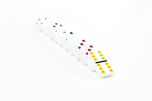 AOQING Dominos Set, Double 6 Color Dot Dominoes,Set of 28 Dominos Game (Pack of 2) by AOQING (Image #6)