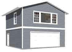 Garage Plans: Two Car, Two Story Garage With Apartment - Plan 1107-1apt (Plans Two Garage Story)